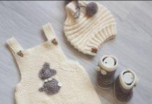 Bebekler için düz ve haraşo örgü bebek tulumu modeli tarifi anlatımlı