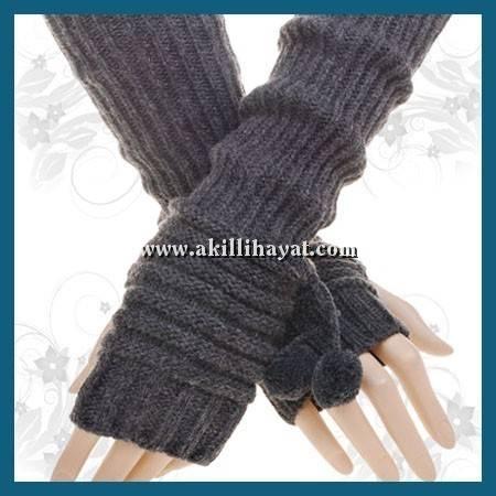 Ponponlu parmaksız uzun eldiven modeli yapılışı (anlatımlı)